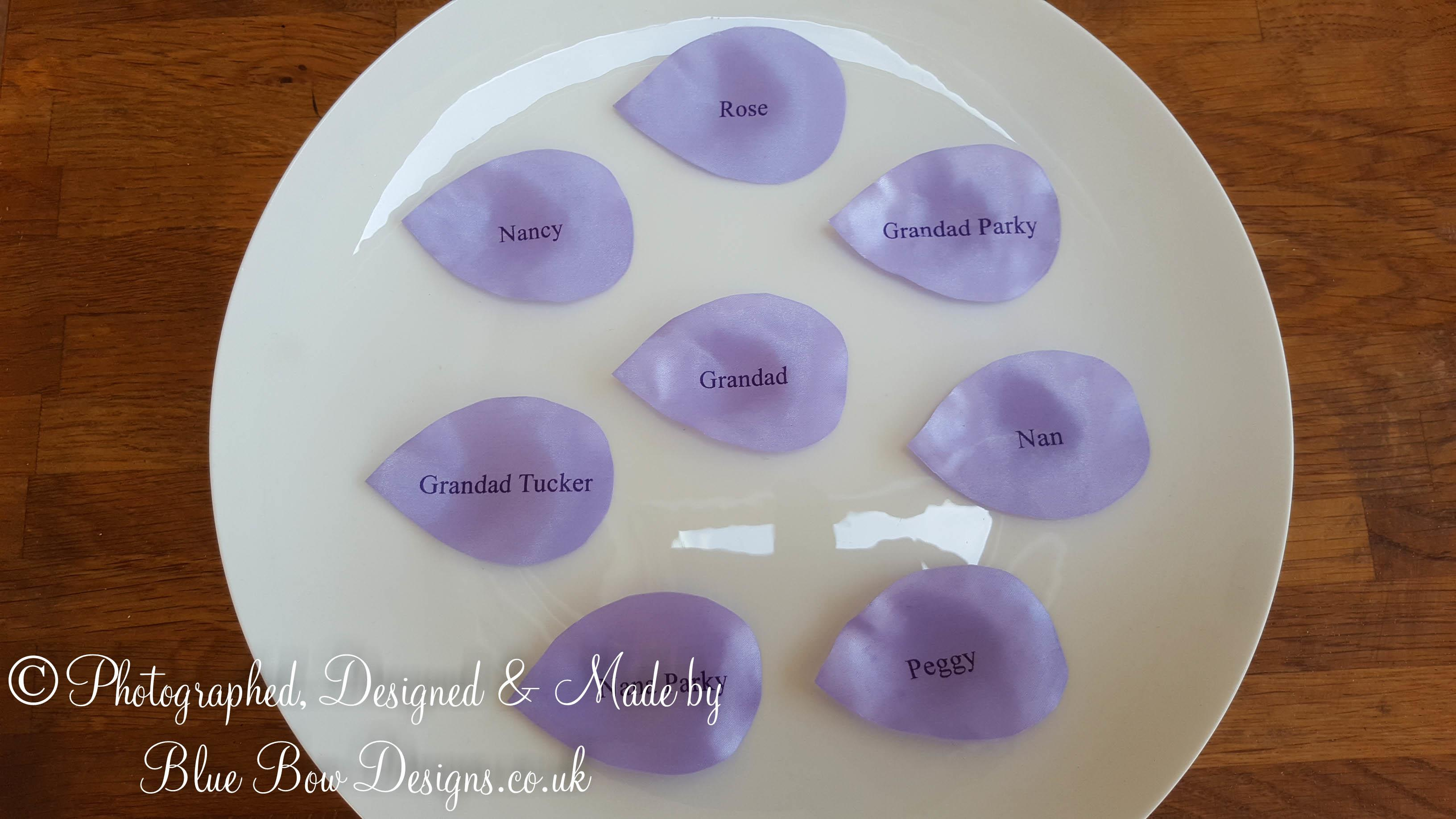 Purple personalised petals