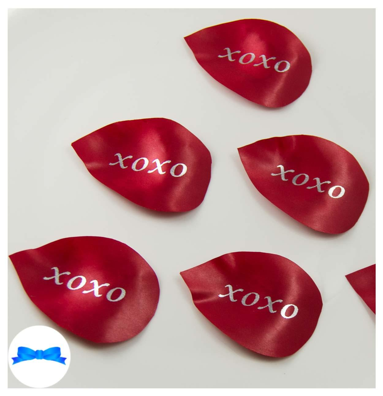 Red personalised petals