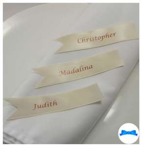 Ivory Satin ribbon names for own items