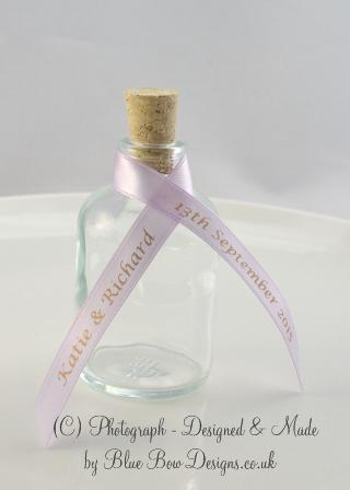 Wedding favour miniature bottle favours