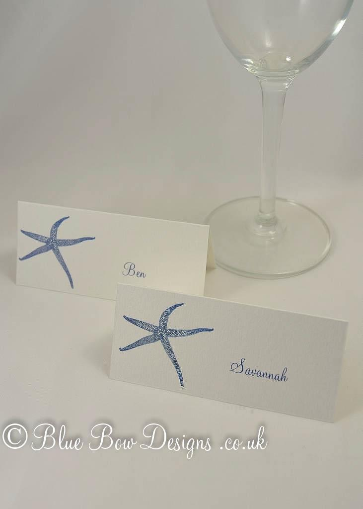 Starfish place card
