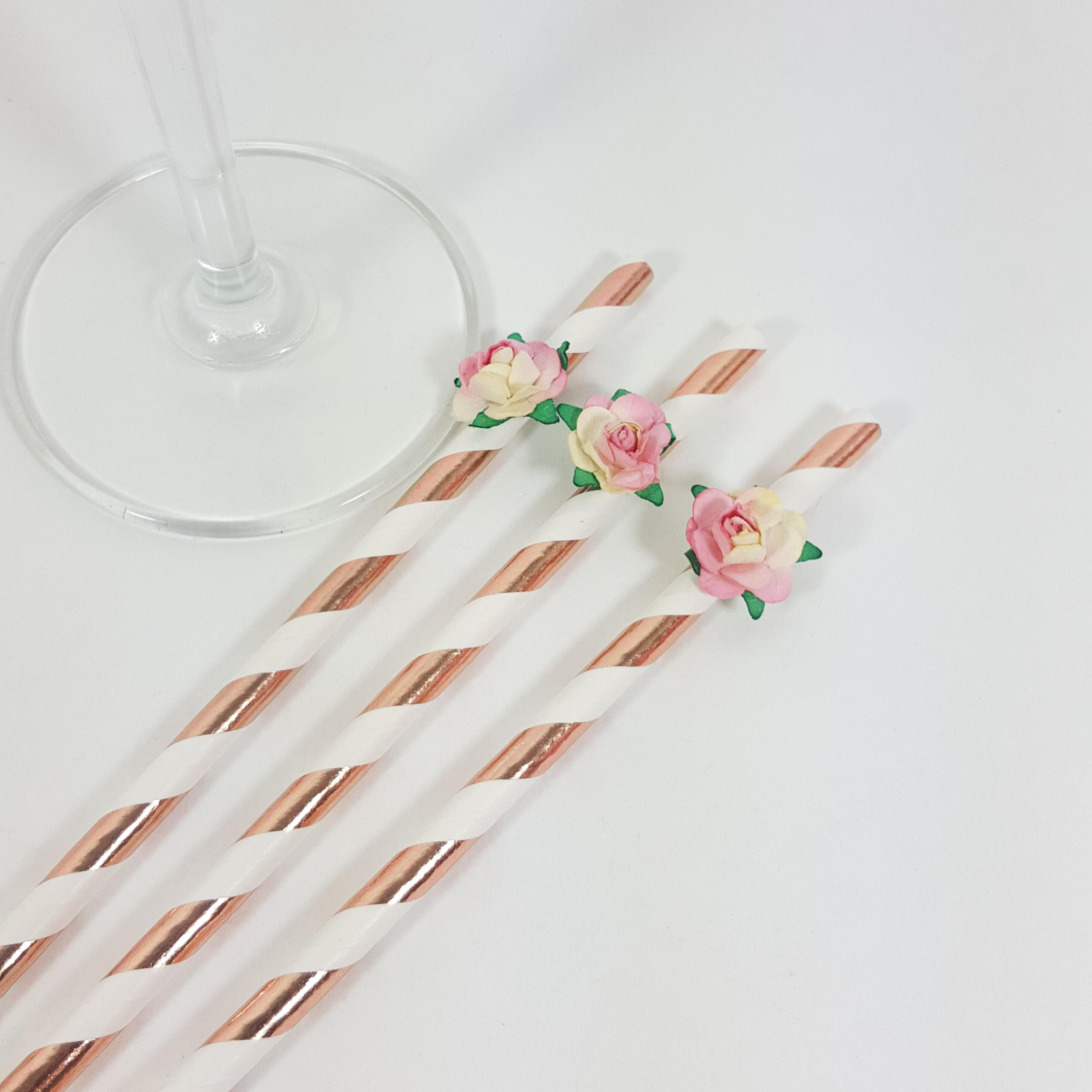 Hen Party Rose straws