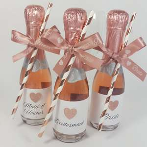 Bridesmaid Straws, labels and ribbons
