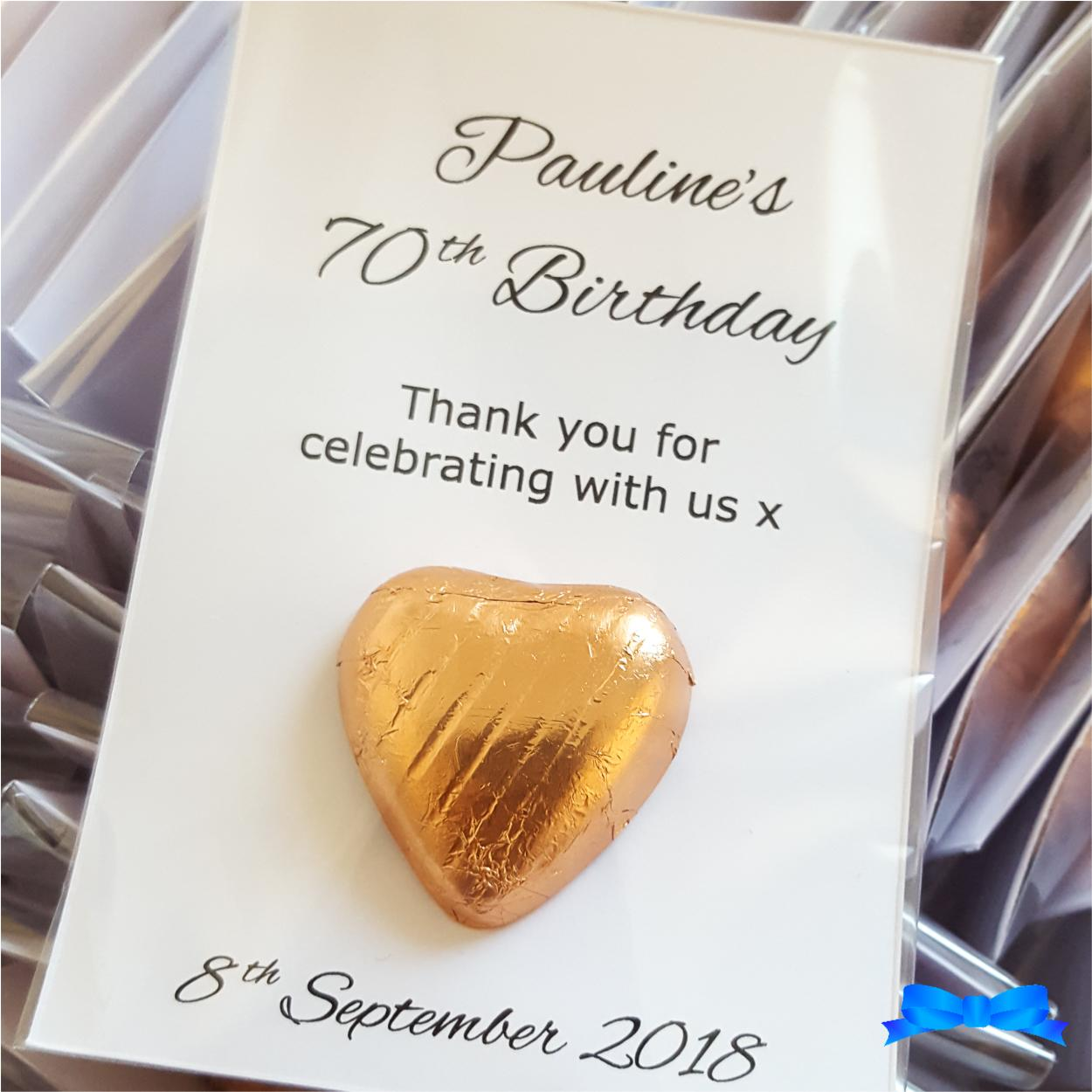 Rose gold copper birthday party favour