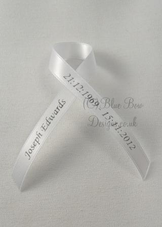 White memorial ribbon