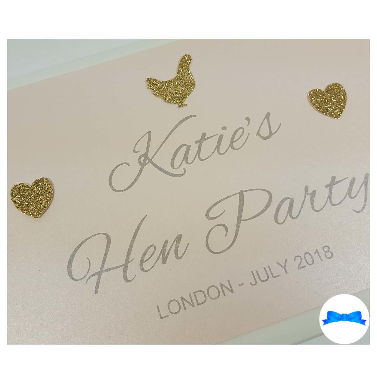 Personalised hen party Book - Peach