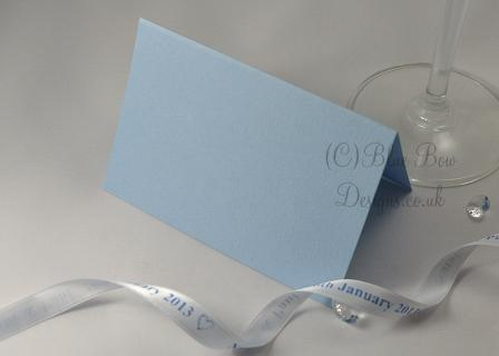 Blue place card