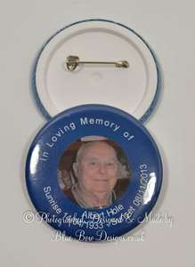 Funeral photograph badge