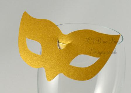 No. 5 Paris  wine glass place card for wine glass masquerade