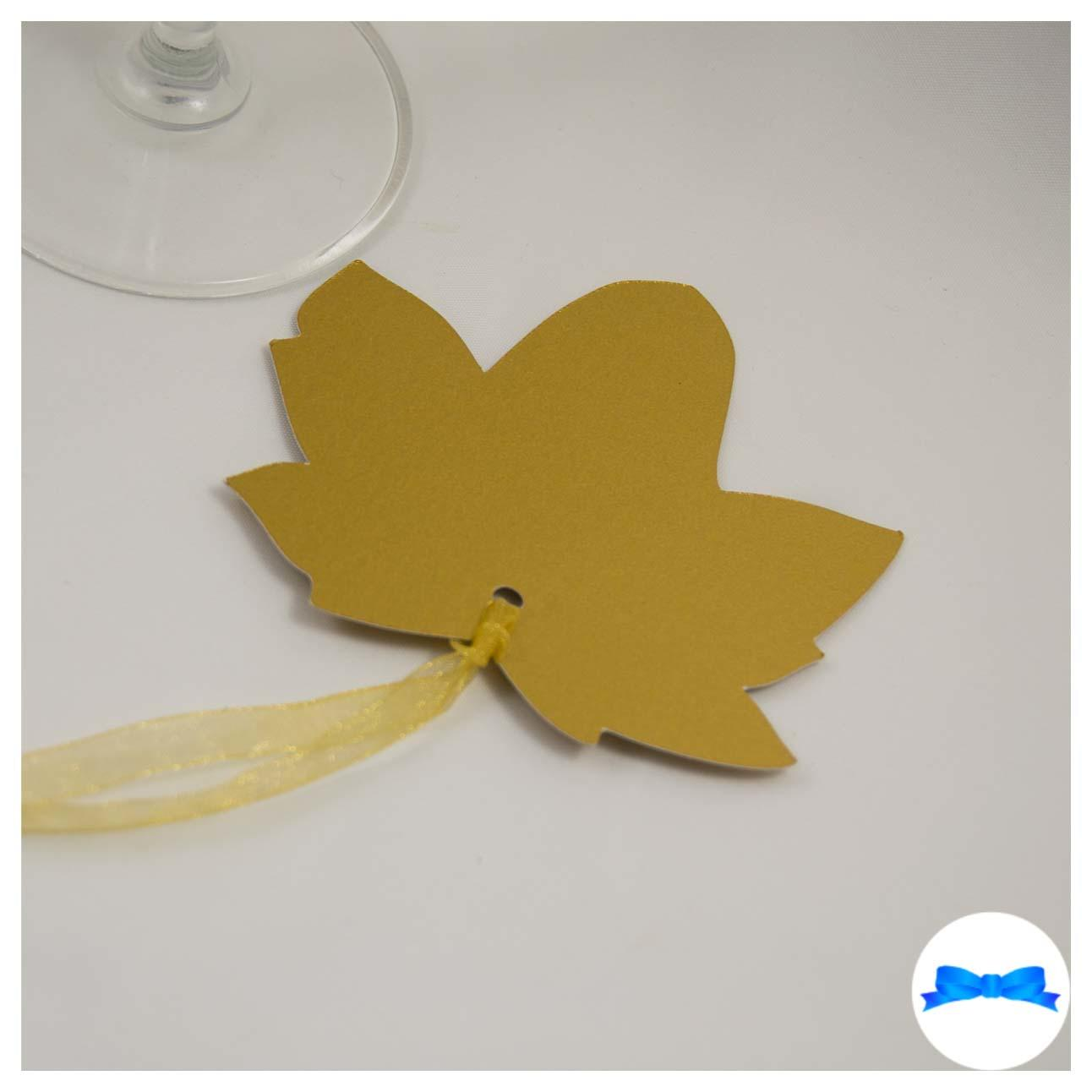 Gold sycamore leaf tag