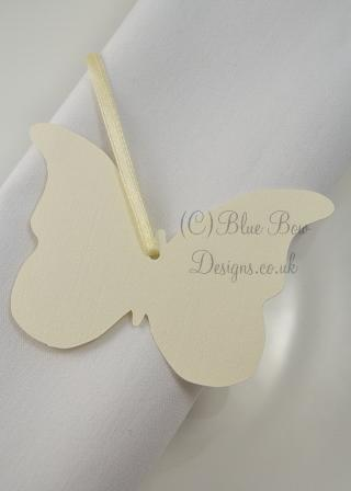 Butterfly shaped tags
