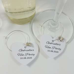 Personalised heart charms