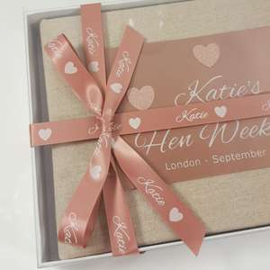 Linen hen party book