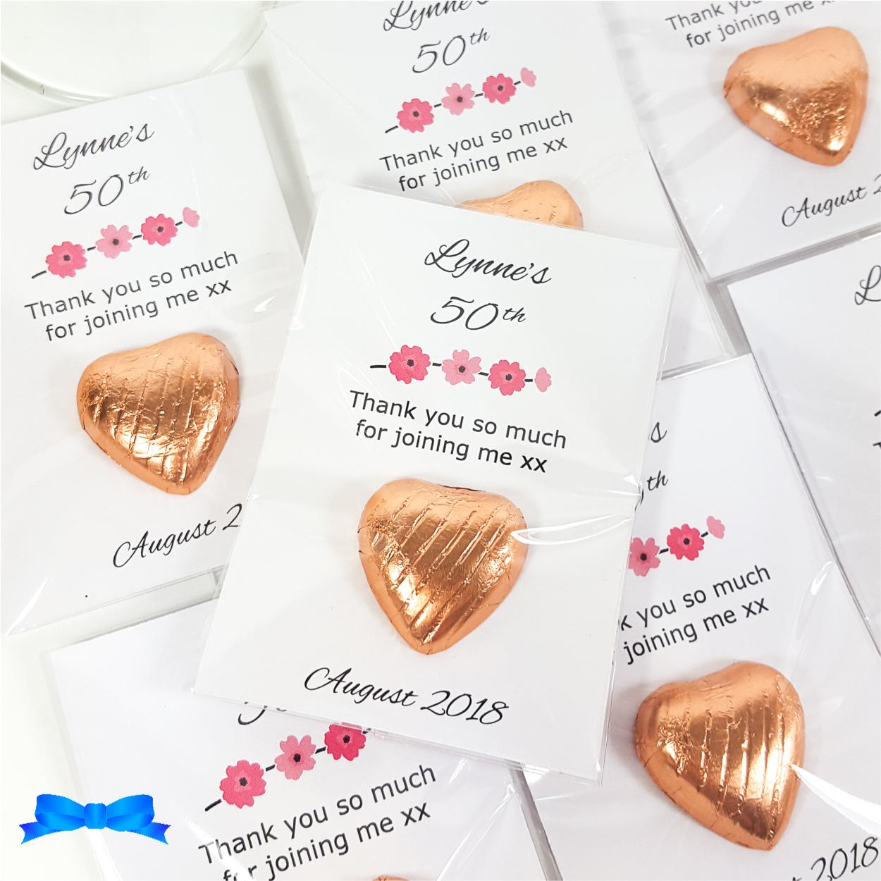 Personalised hen party Favours with flowers