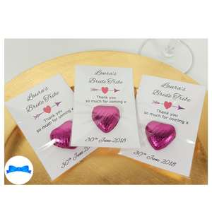 Personalised hen party Favours with heart and arrow