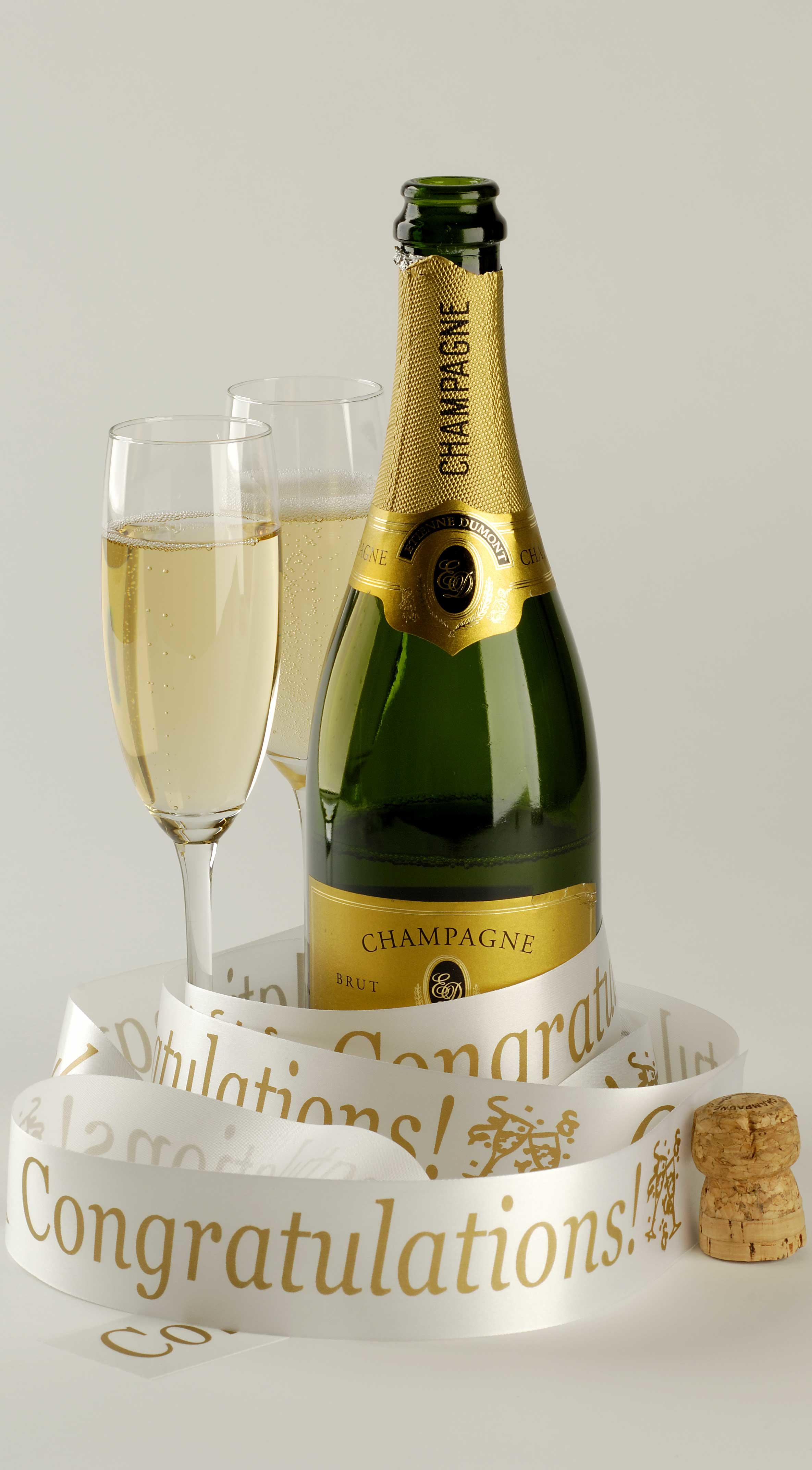 45 mm printed ribbon for champagne bottle