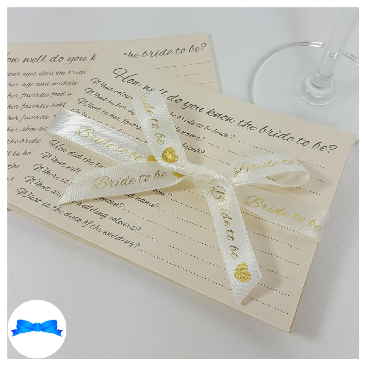How well do you know the bride cards