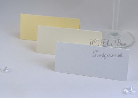 White and cream place cards