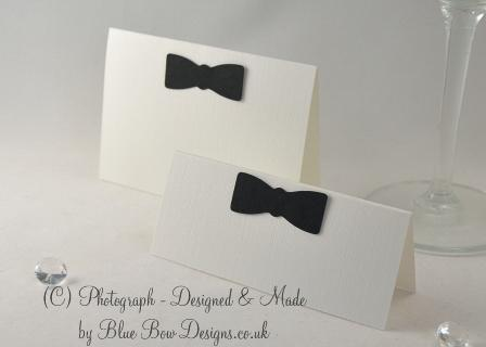 Bow tie place cards large and medium
