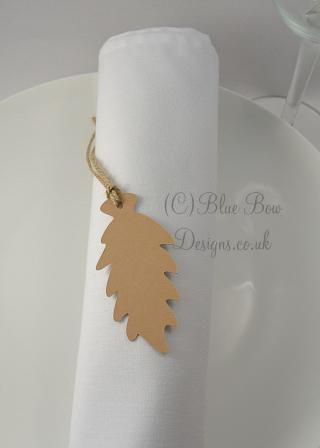 Fern frond leaf tag