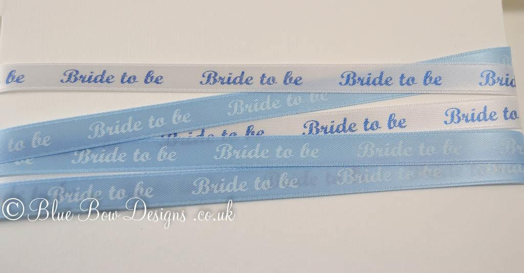 Blue printed ribbon