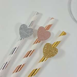 Hen party straw with heart