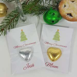 Christmas tree Place card name table favour