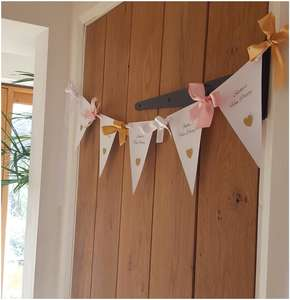 Personalised bunting and garland