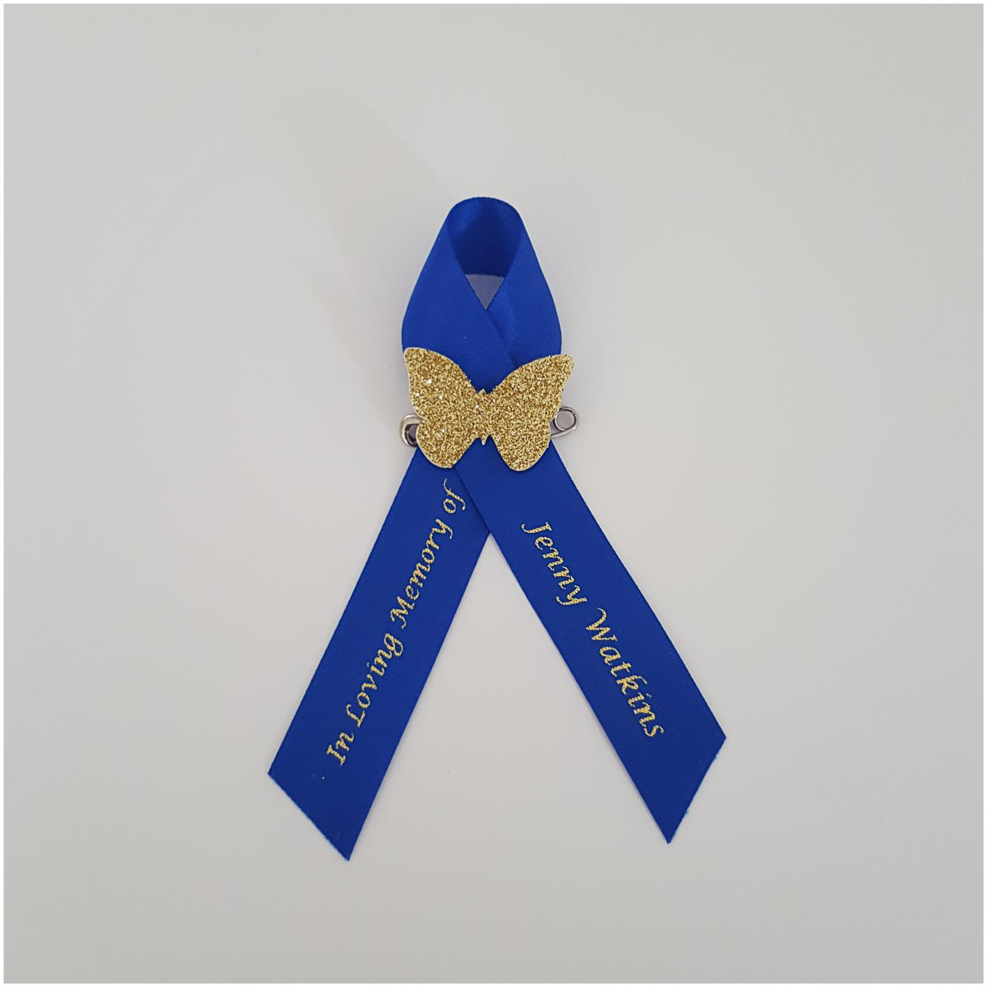 Butterfly Funeral ribbon. Memorial ribbon