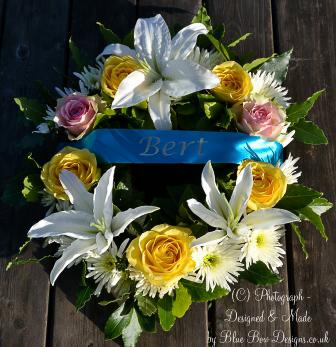Royal blue Bert wreath ribbon