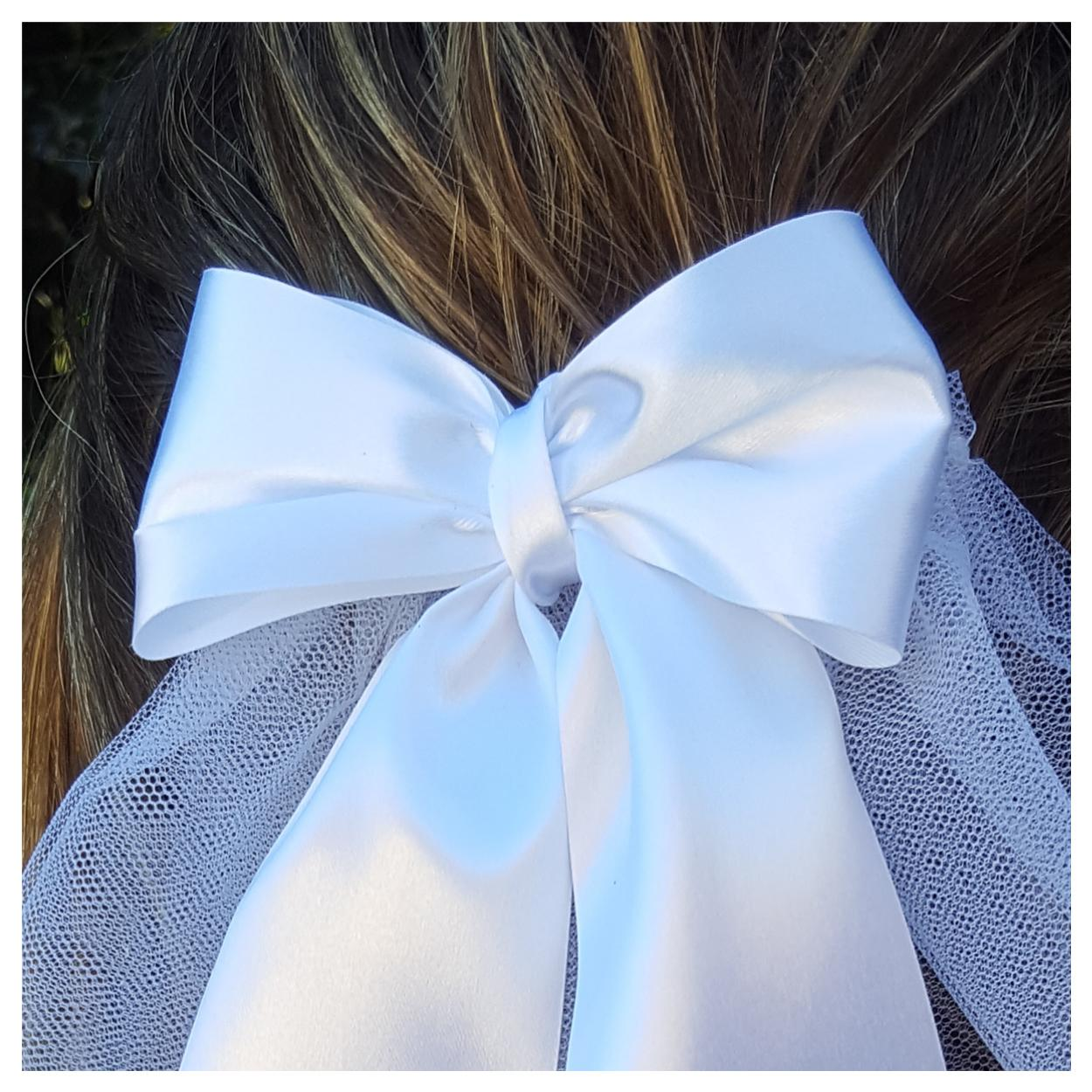 Close up on hen party veil bow