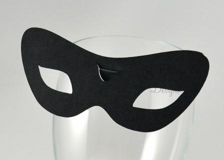 No. 3 Rome -  wine glass place card for wine glass masquerade