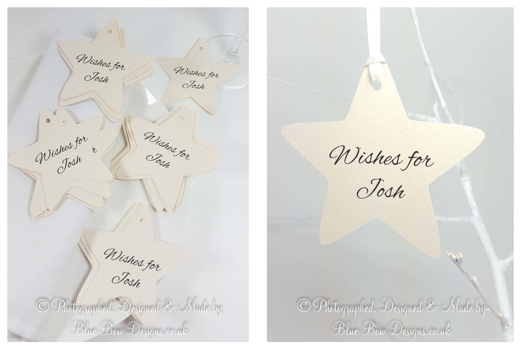 Personalised star shaped tag - Soft star