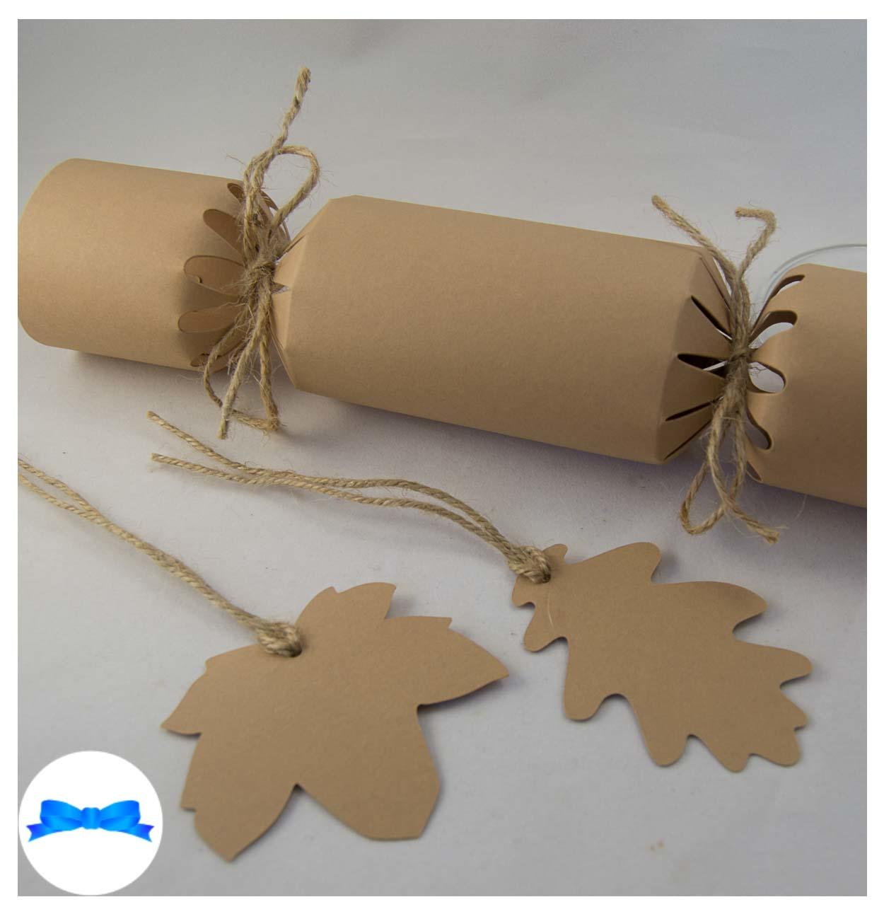Kraft brown card leaves