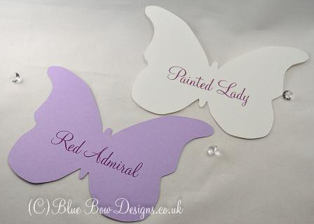 Purple Butterfly table name cards