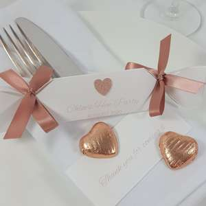 Rose gold hen party favours