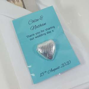 Personalised Turquoise Blue Wedding Favours