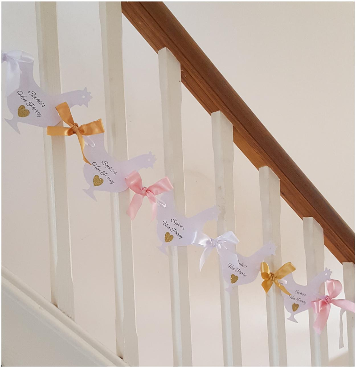 Hen shaped hen party bunting