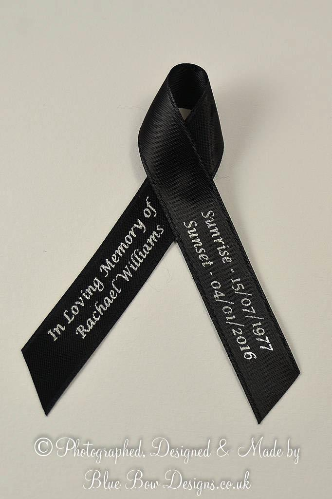 Black memorial ribbons