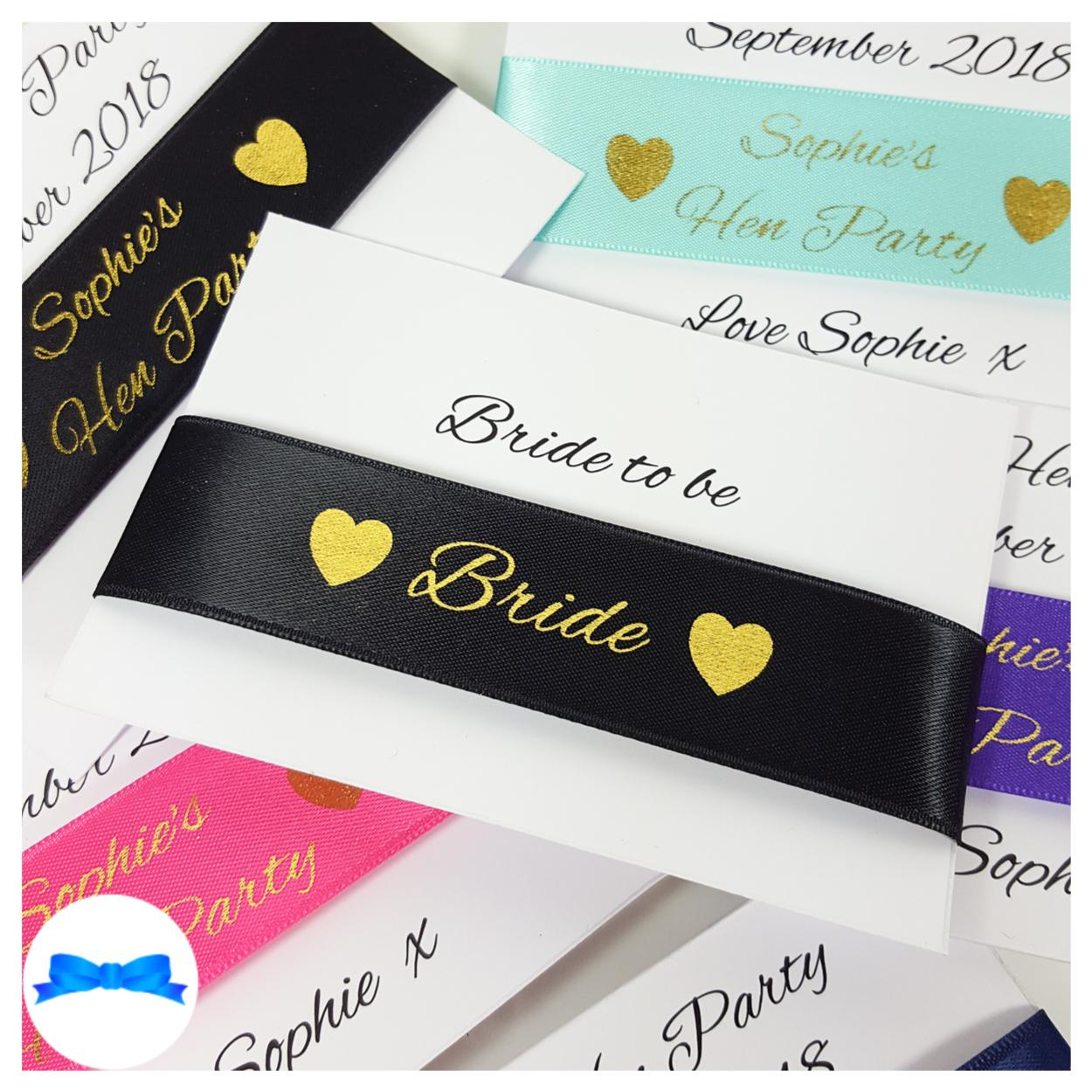 25 mm wristband ribbons