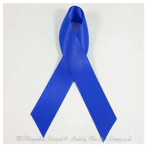 Royal blue awareness ribbons