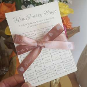 Hen party Bingo game cards