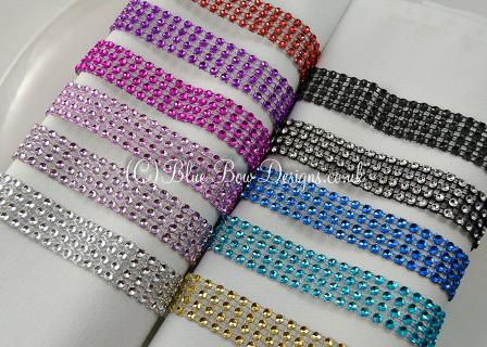 Diamante mesh colours available