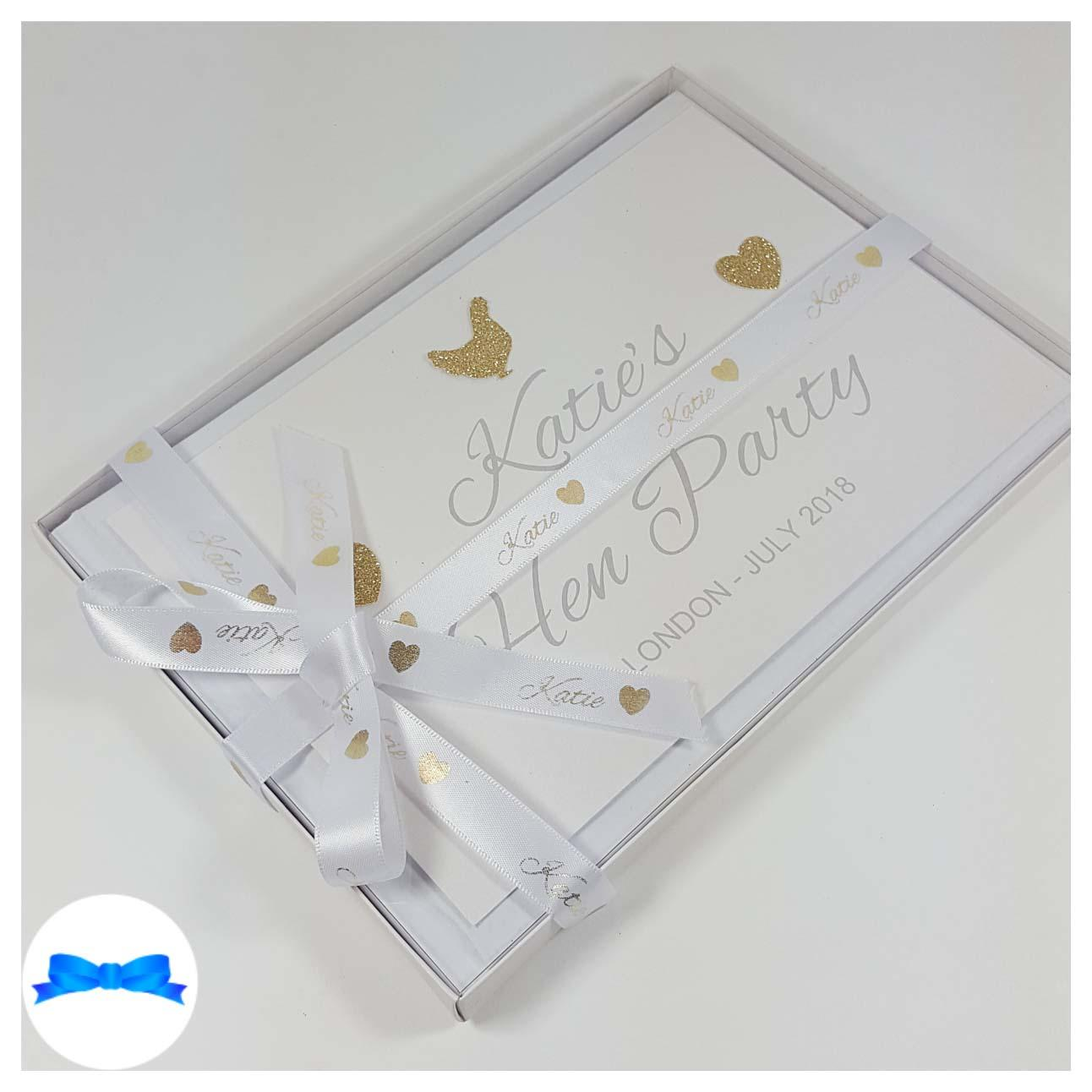 White and gold hen do book