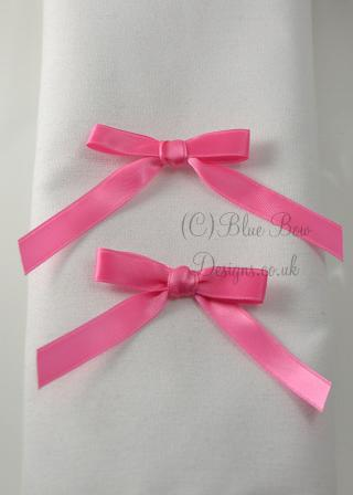 10 mm rose bud pink  pre tied bows
