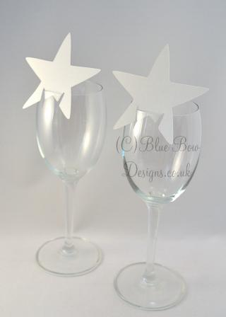 Silver stars for place cards