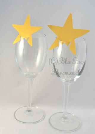 gold stars for wine glasses