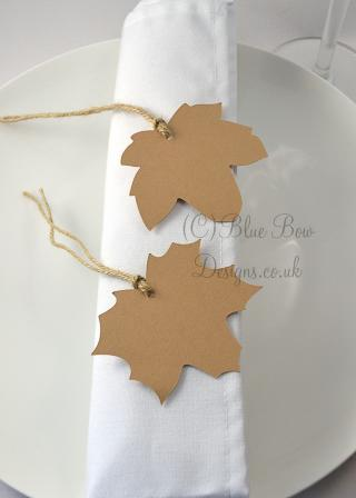 Kraft brown maple leaves