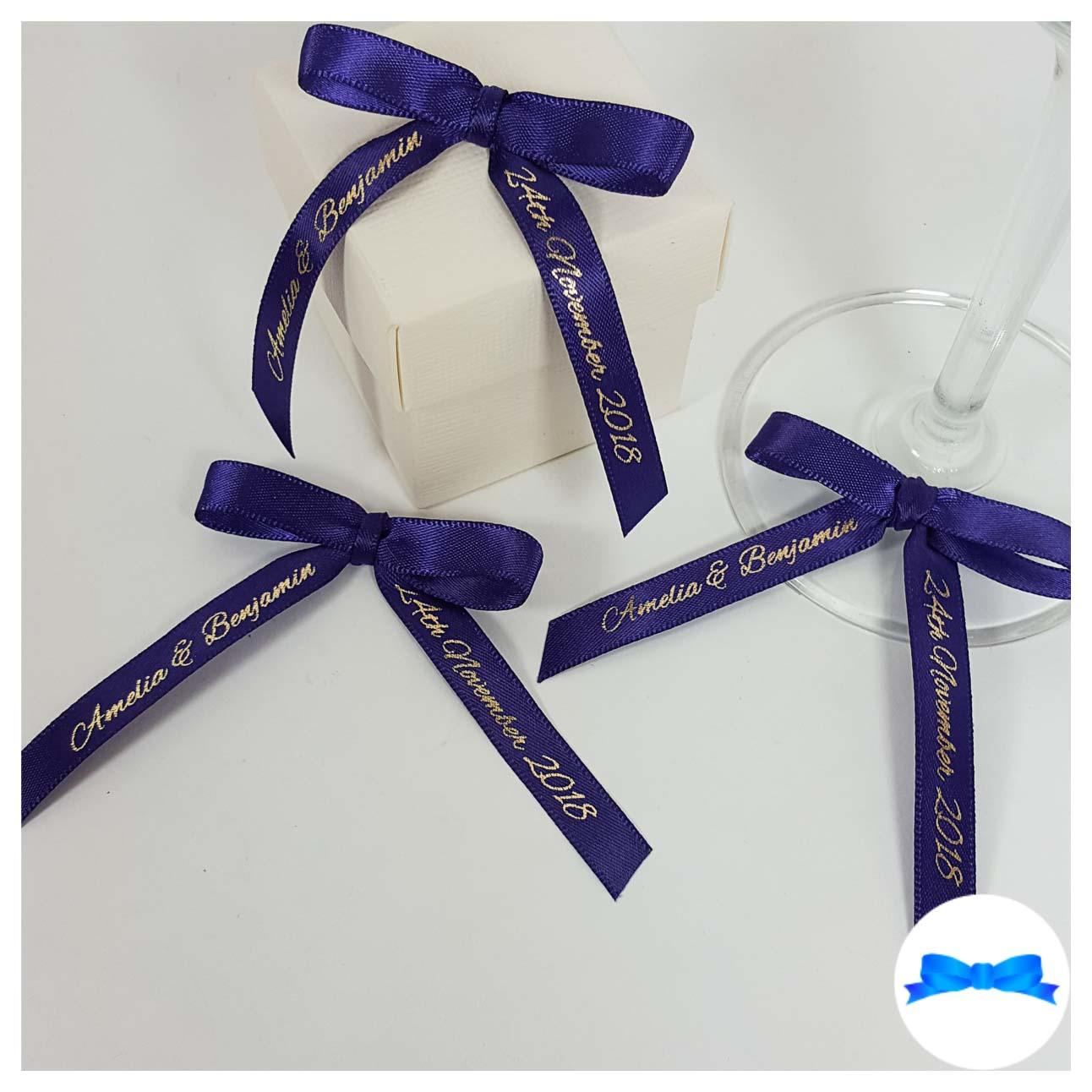 10 mm Personalised pre tied bows