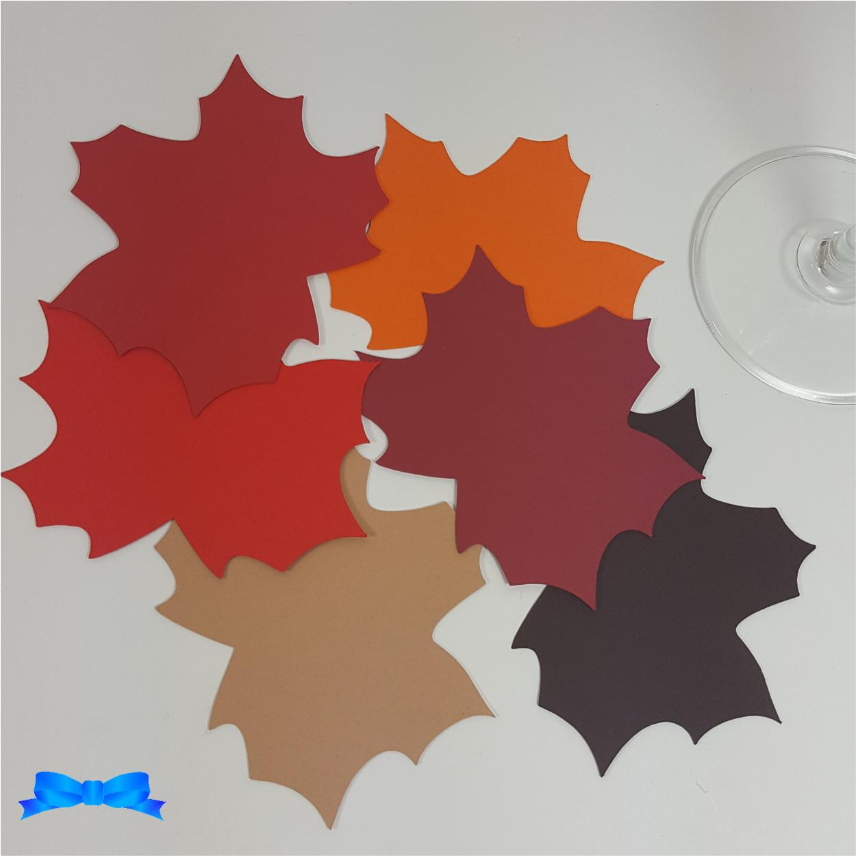Autumn Maple leaf tags